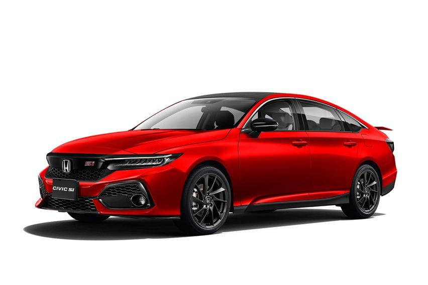Newly rendered images for the 2022 Honda Civic give a closer look at the SI model