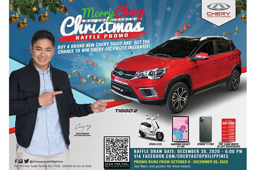 You can win a Tiggo 2 in this 'Merry Chery Christmas' raffle