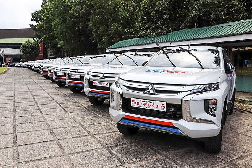 The Mitsubishi Strada is the official DepEd vehicle