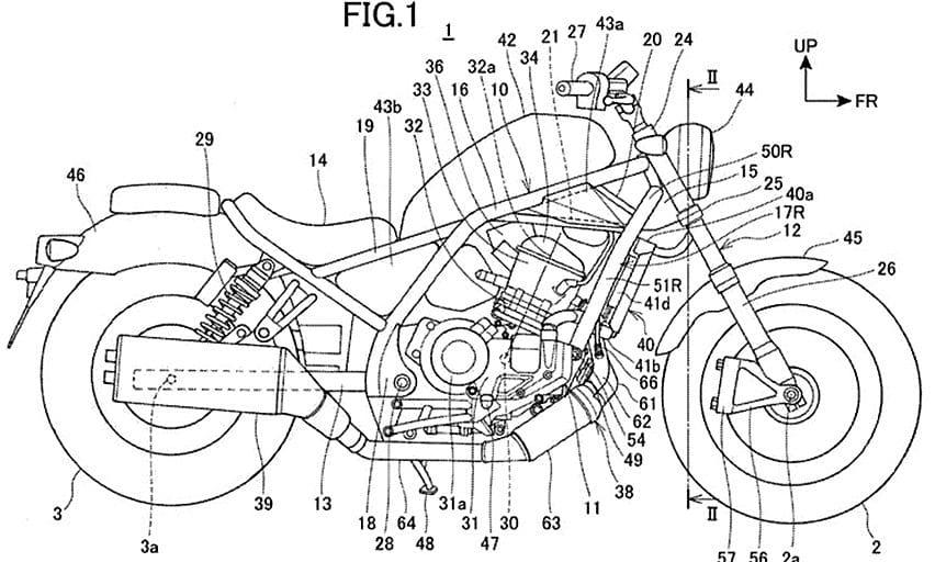 Gambar paten Honda Rebel 1.100 cc Terungkap, Disematkan Teknologi DCT?