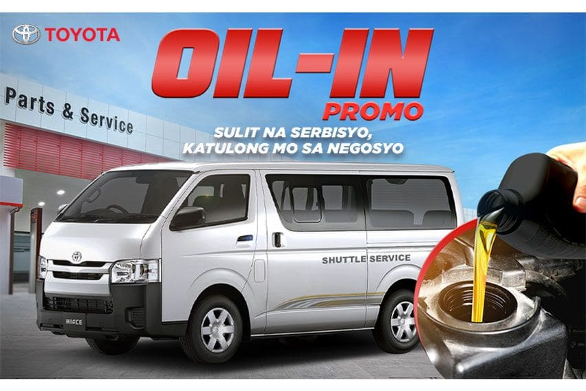 Oil's well for Hiace Commuter owners as Toyota PH offers 'Oil-In' promo