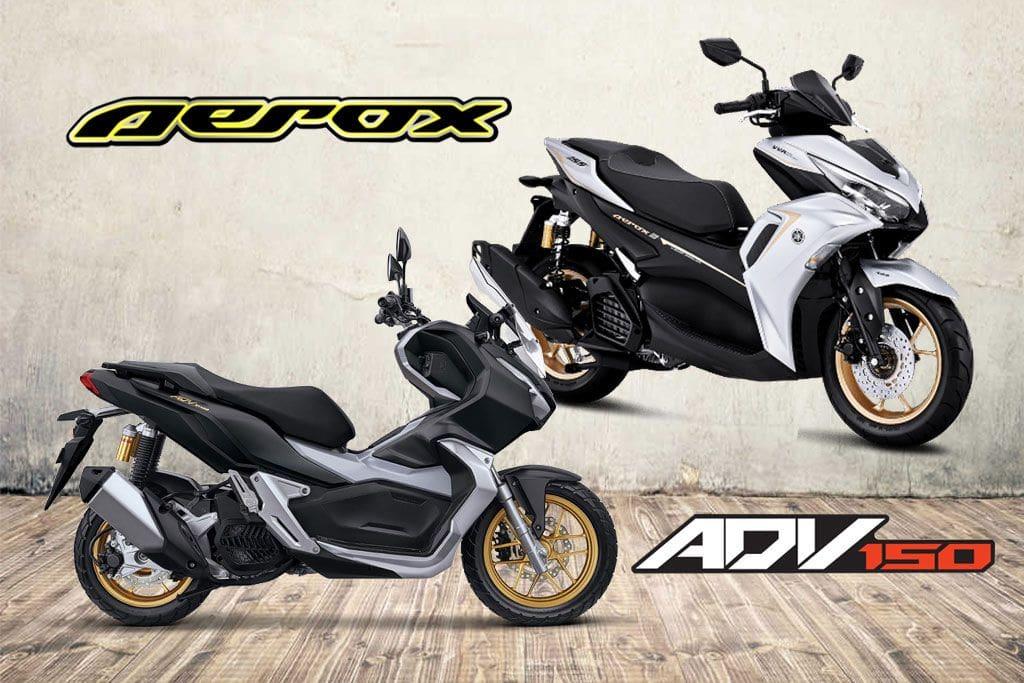 Adu Kelengkapan Fitur Yamaha All New Aerox Vs Honda ADV150