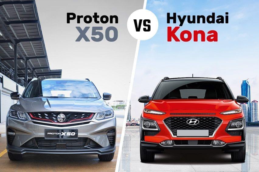 Proton X50 vs. Hyundai Kona: The compact crossover fight
