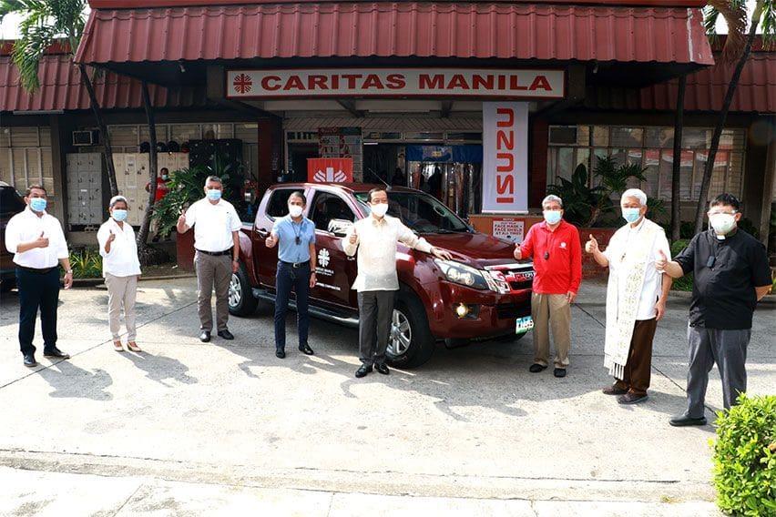 Isuzu PH donates D-Max pickup to Caritas Manila