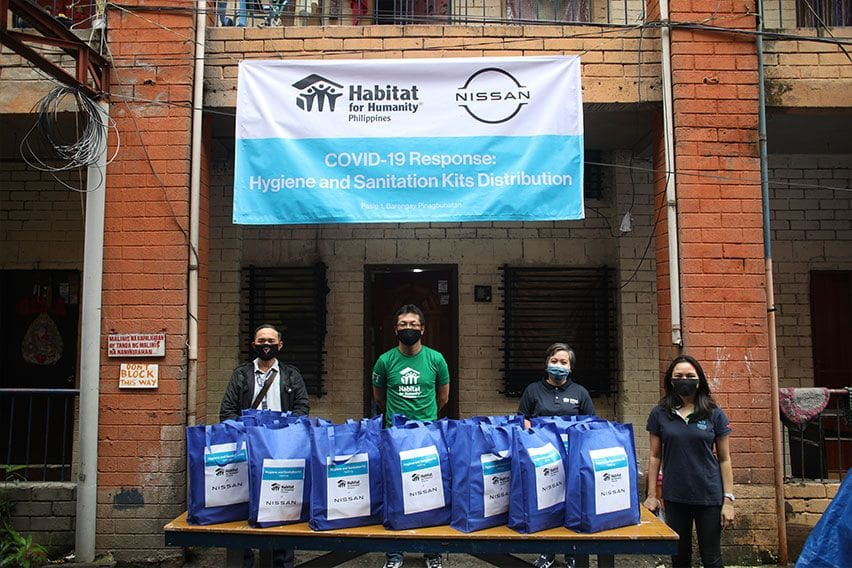 Nissan PH, Habitat for Humanity give away hygiene kits in Pasig