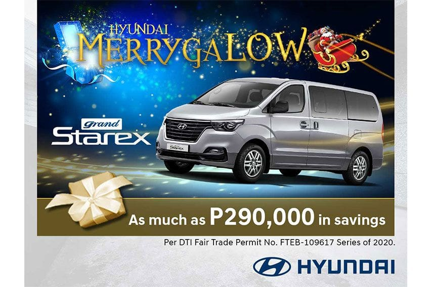 Hyundai PH offers easy Starex ownership with 'MerrygaLOW' promo