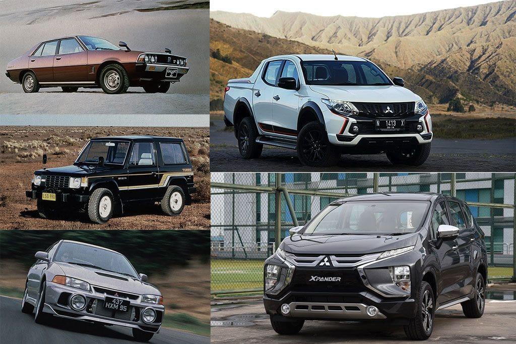 Daftar Mobil Terbaik Mitsubishi di Lima Dekade Terakhir