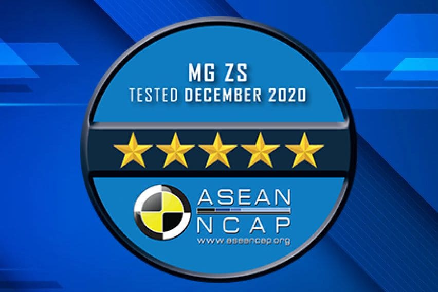 MG ZS safety scores announced by ASEAN NCAP