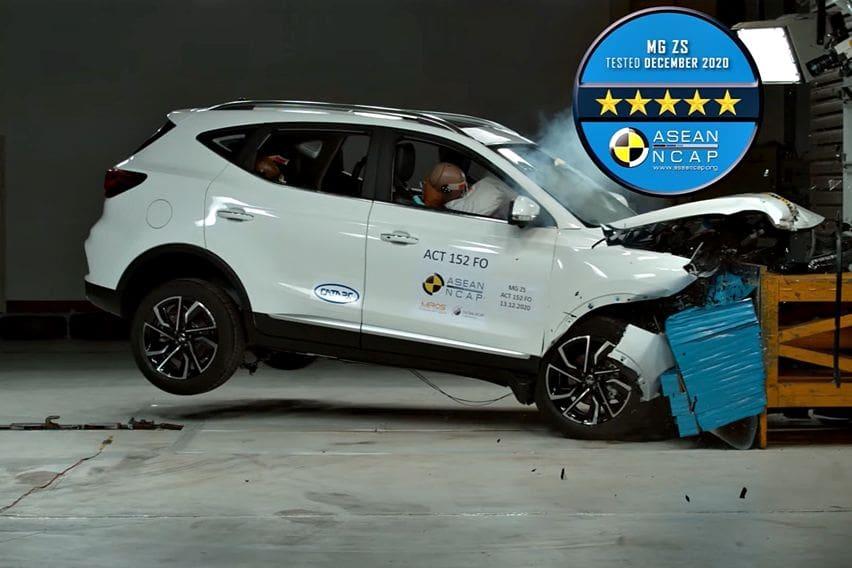 MG ZS Kantongi Nilai Sempurna dalam Uji Tabrak Asean NCAP