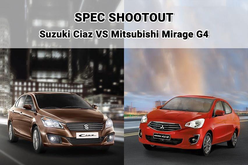 Sedan showdown: Suzuki Ciaz vs. Mitsubishi Mirage G4