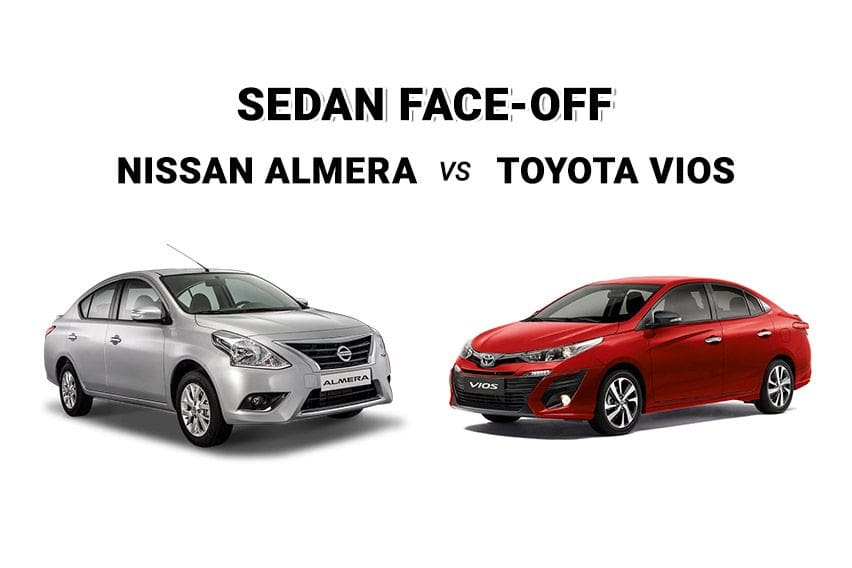 Upper middle class: Nissan Almera vs. Toyota Vios