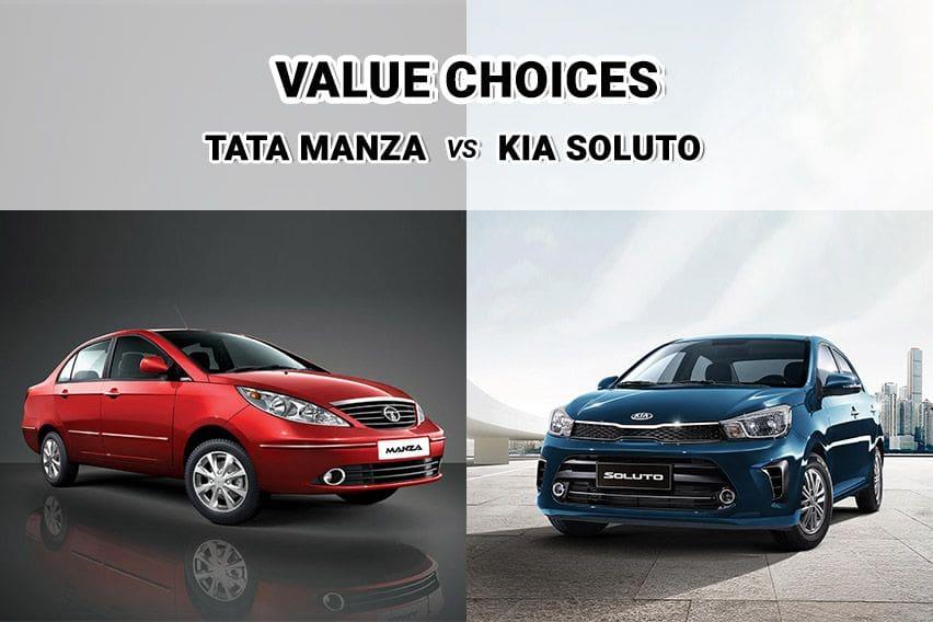Affordable sedan shootout: Kia Soluto vs. Tata Manza