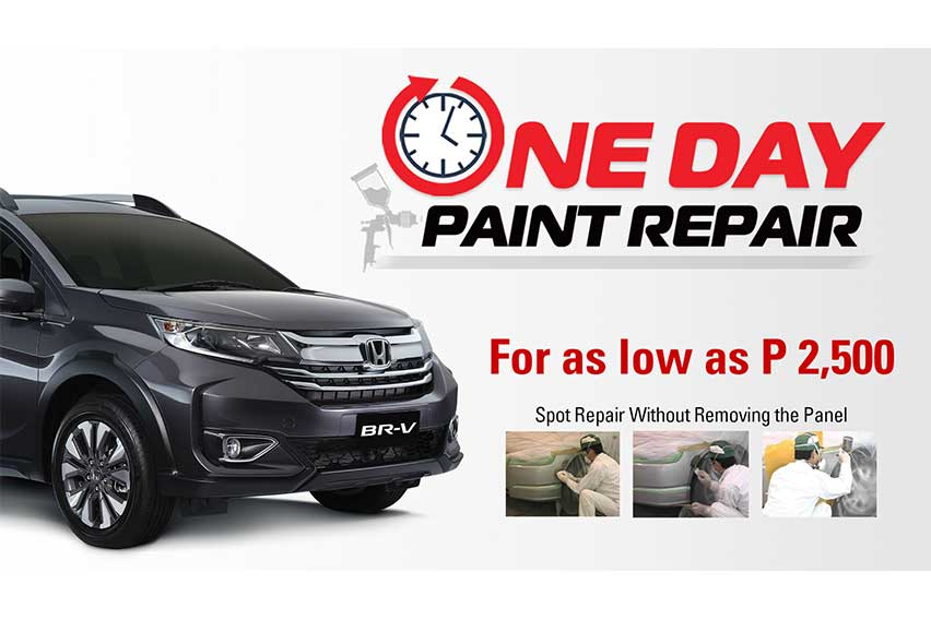 Your Honda car's damaged paintwork can now be fixed in 1 day