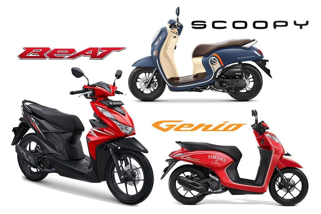 Intip Perbedaan dan Persamaan All New Honda Scoopy dengan Genio dan Beat