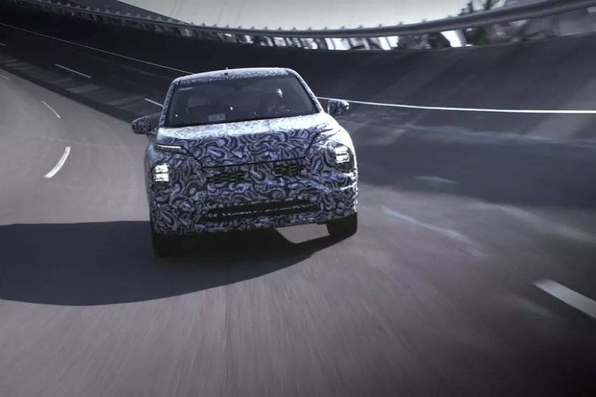 2021 Mitsubishi Outlander teased again, global debut next month