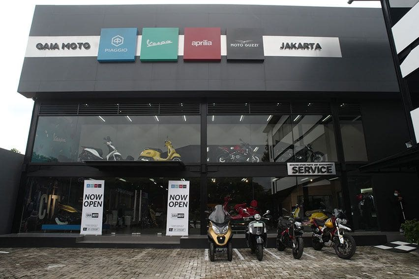 Gaia Moto, Diler Berkonsep Motoplex 4 Brand Piaggio Kini Hadir di Cilandak