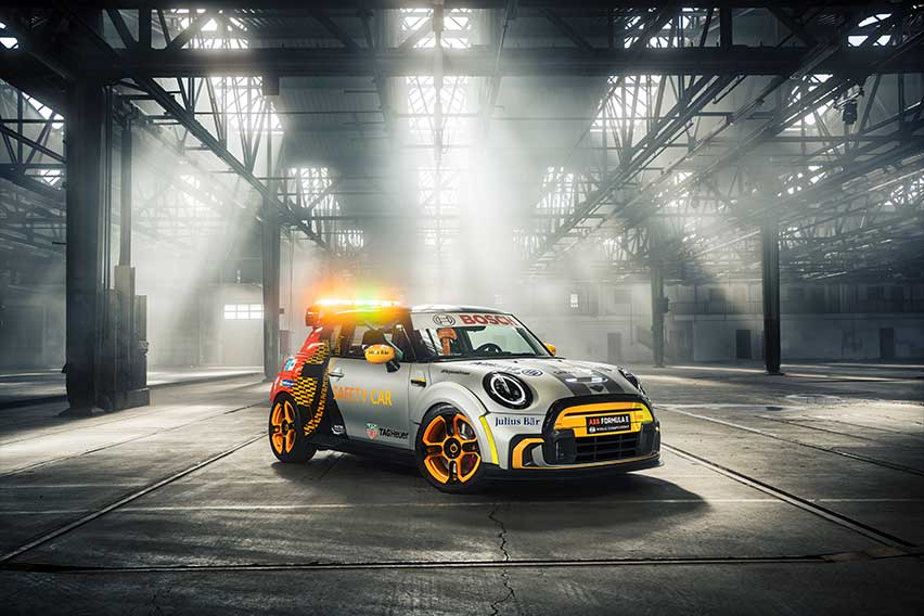 JCW-inspired Mini Electric Pacesetter joins Formula E as safety car