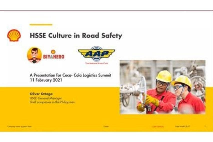 Shell talks about road safety initiatives in Coca-Cola Logistics Summit