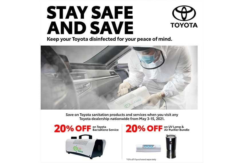 Toyota PH marks down prices of sanitation products and service